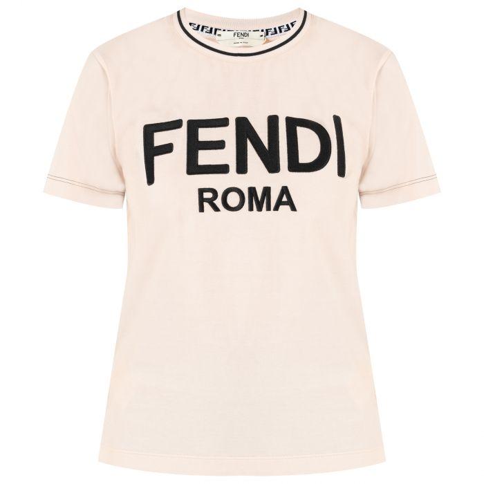 Футболка Fendi пудровая