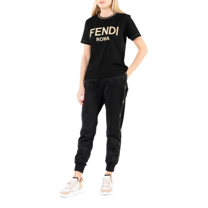 Спортивные брюки Fendi черные