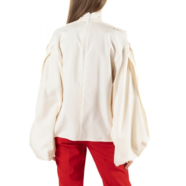 Блуза Victoria Beckham белая