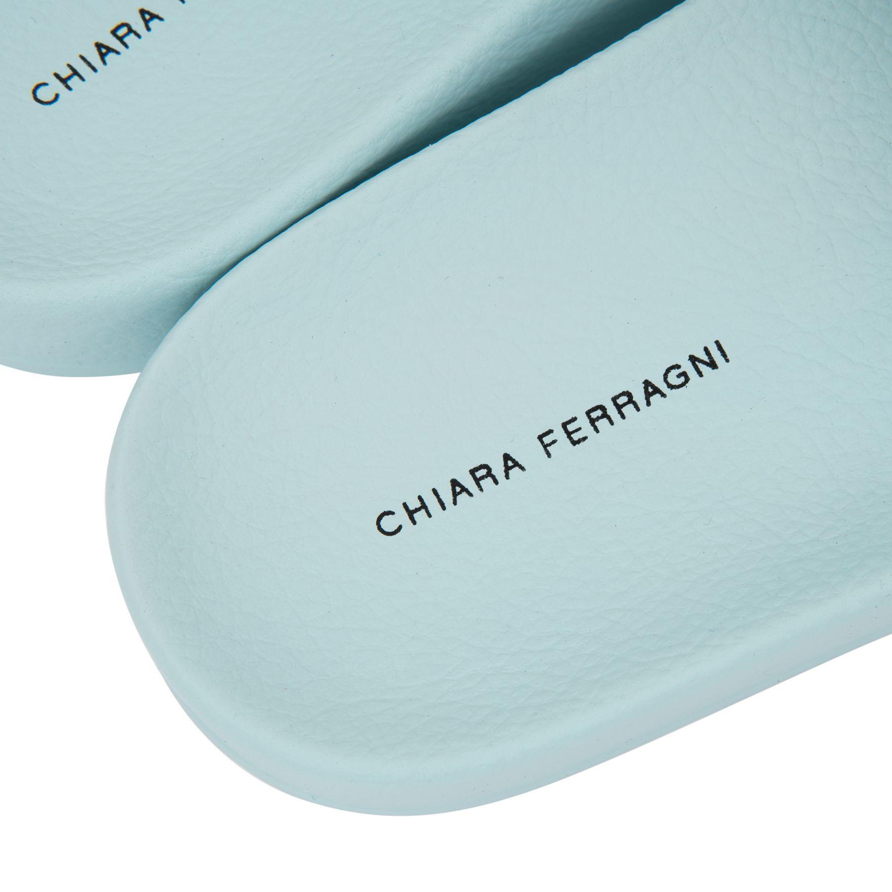 Шлепанцы Chiara Ferragni Flirting Eye светло-голубые