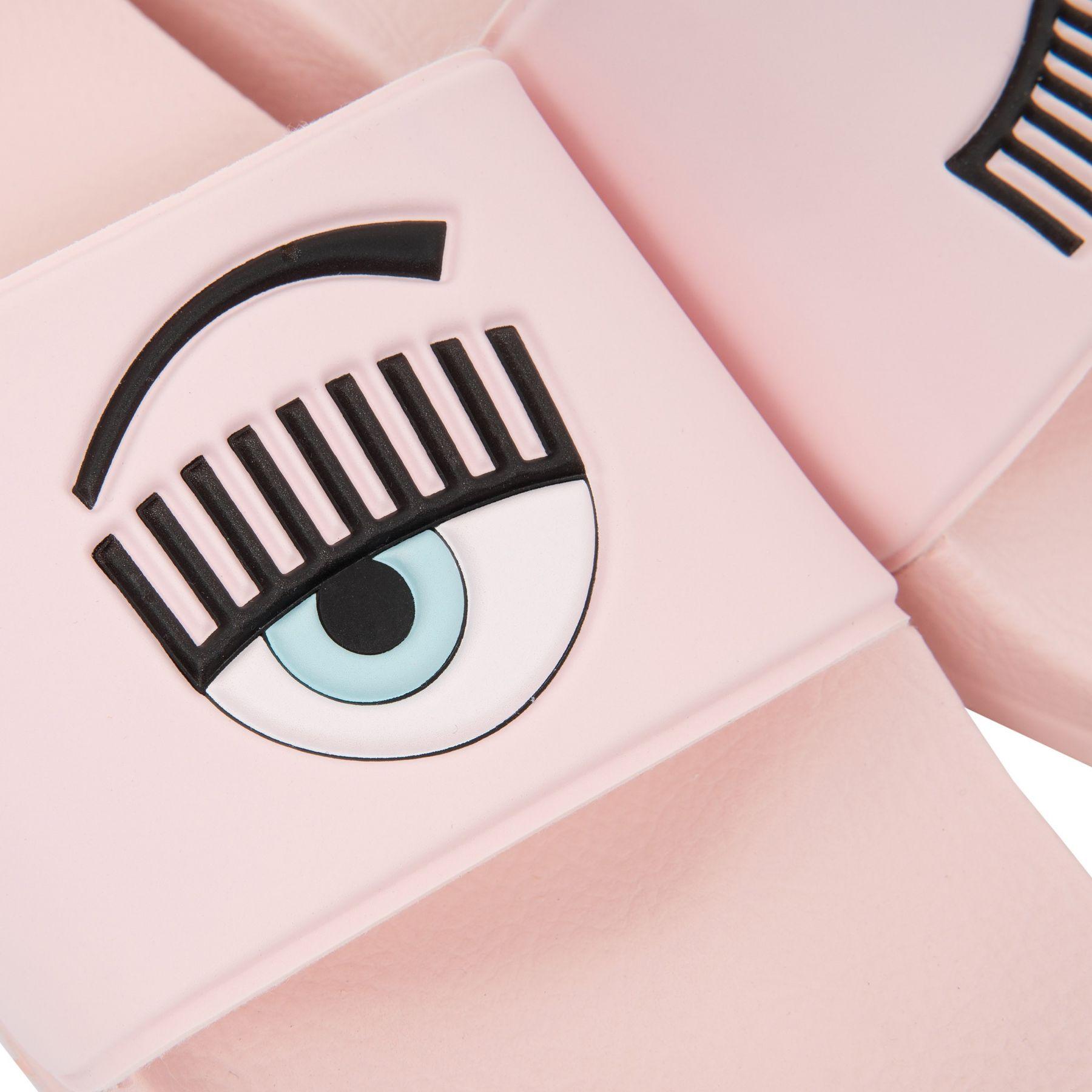 Шлепанцы Chiara Ferragni Flirting Eye светло-розовые