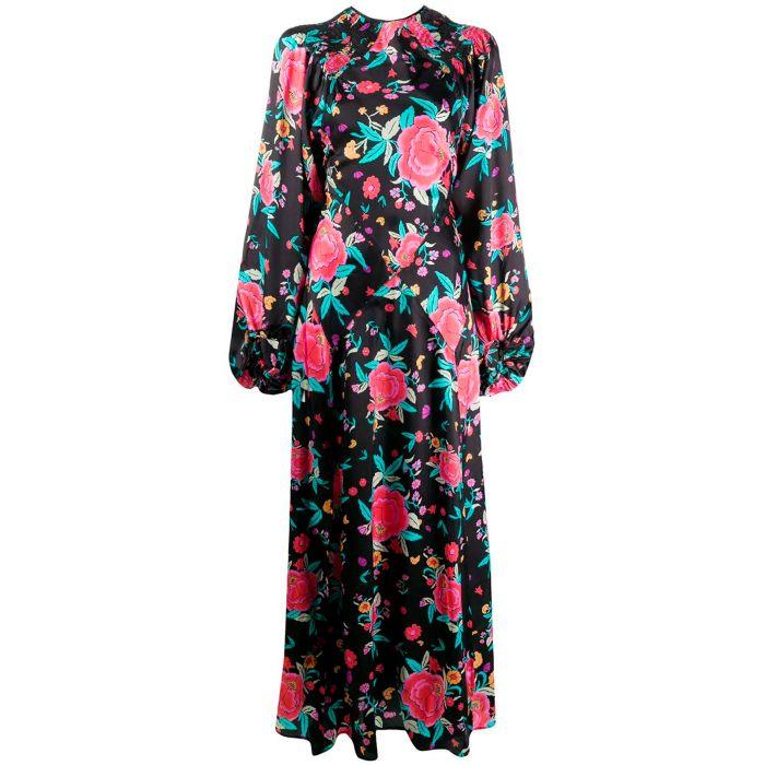 Платье длинное The Attico черное