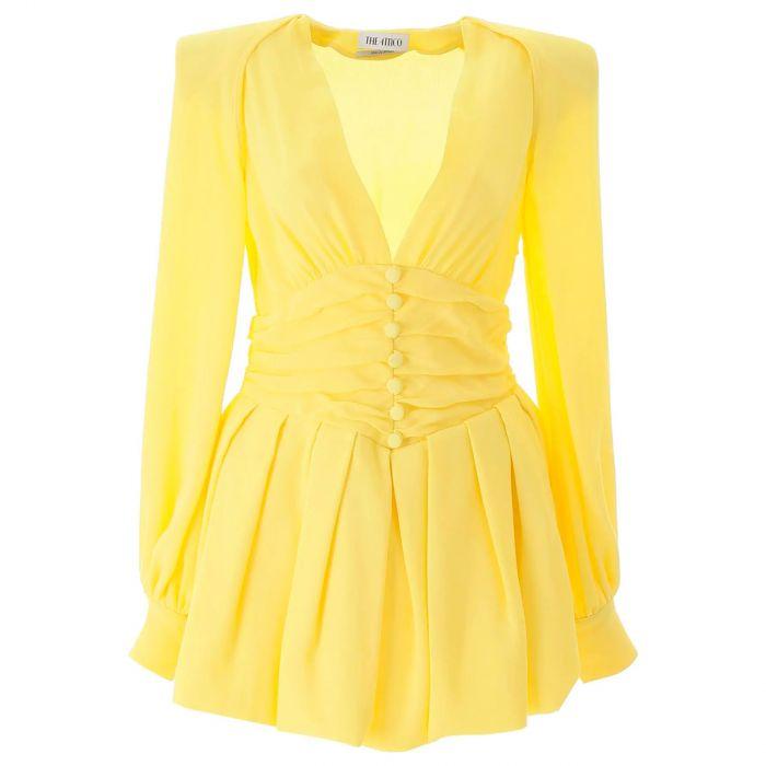 Платье The Attico желтое