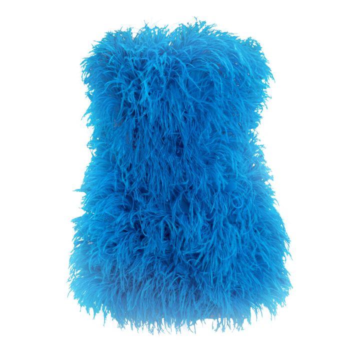 Платье The Attico синее
