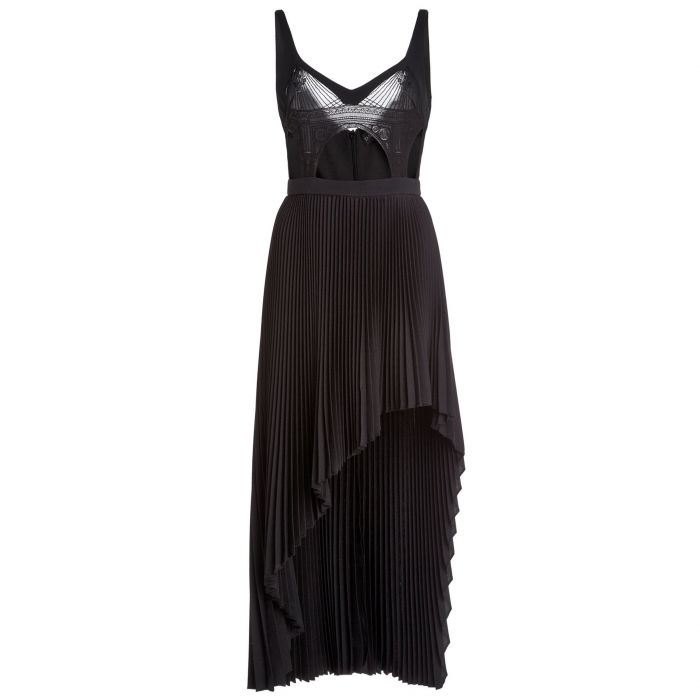 Платье длинное David Koma черное