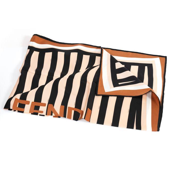 Шарф Fendi PEQUIN бежево-коричневый