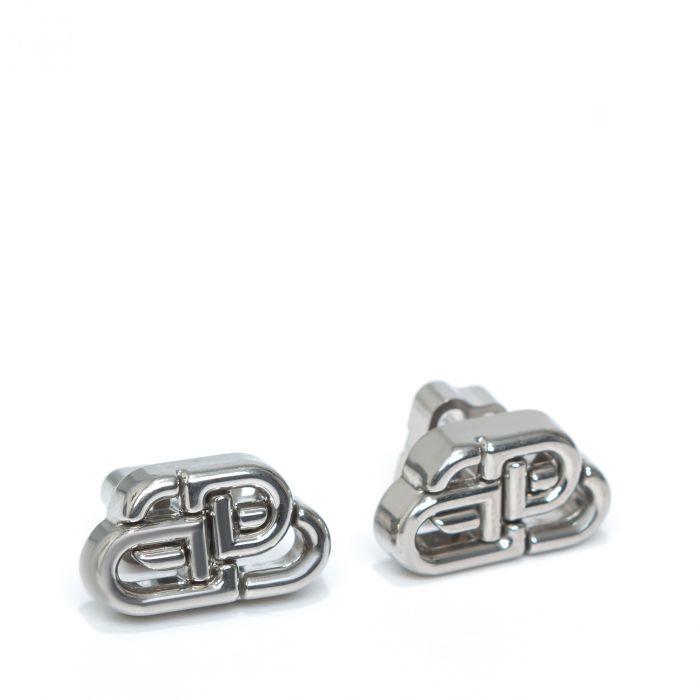 Серьги Balenciaga BB STUD XS серебряные