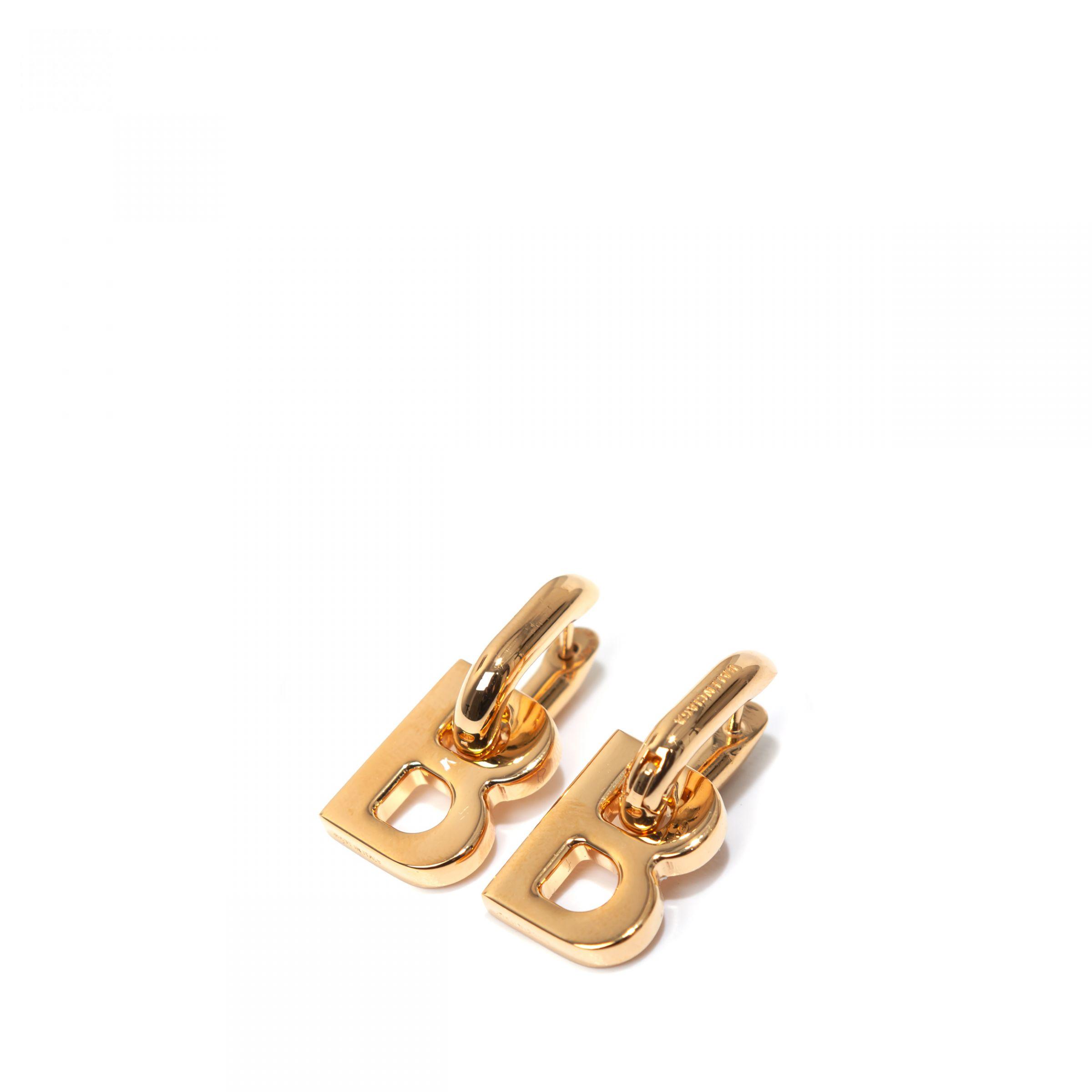 Серьги Balenciaga B CHAIN XS золотые