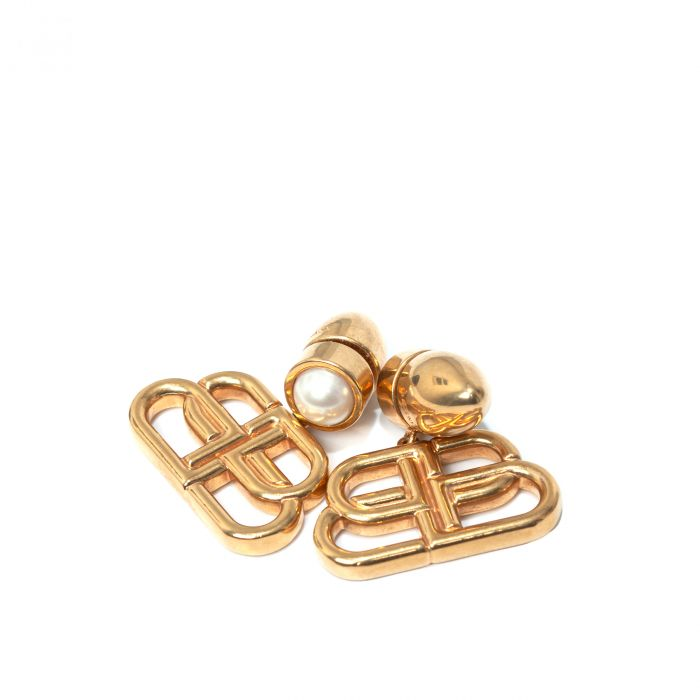 Серьги Balenciaga BB Stud золотые