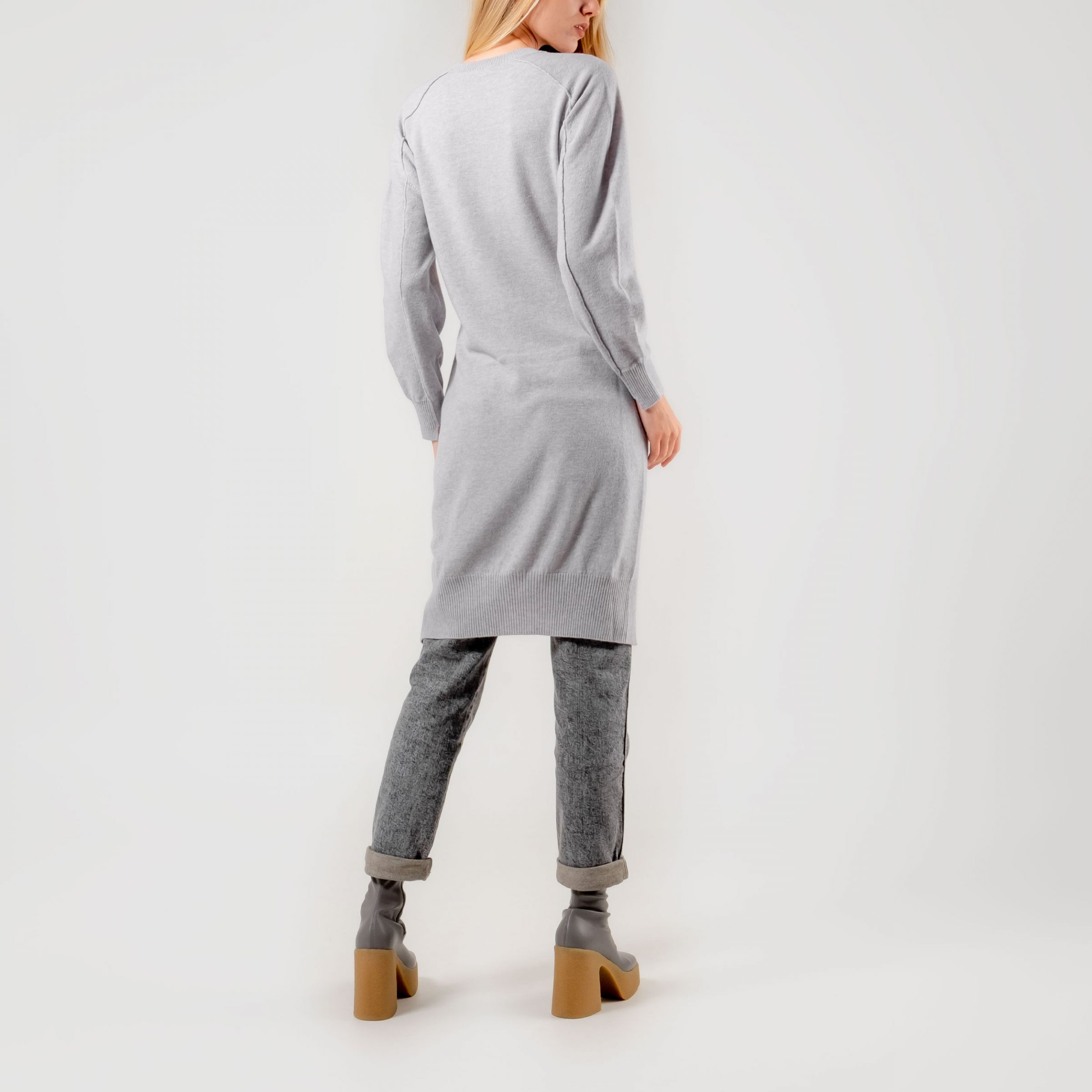 Платье Stella McCartney светло-серое