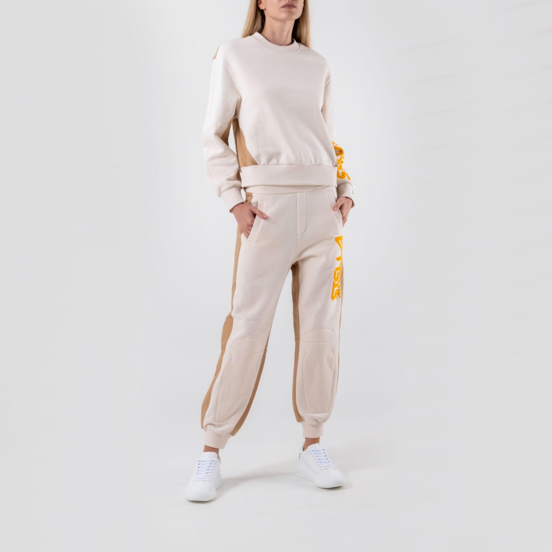 Спортивные брюки Stella McCartney бежевые