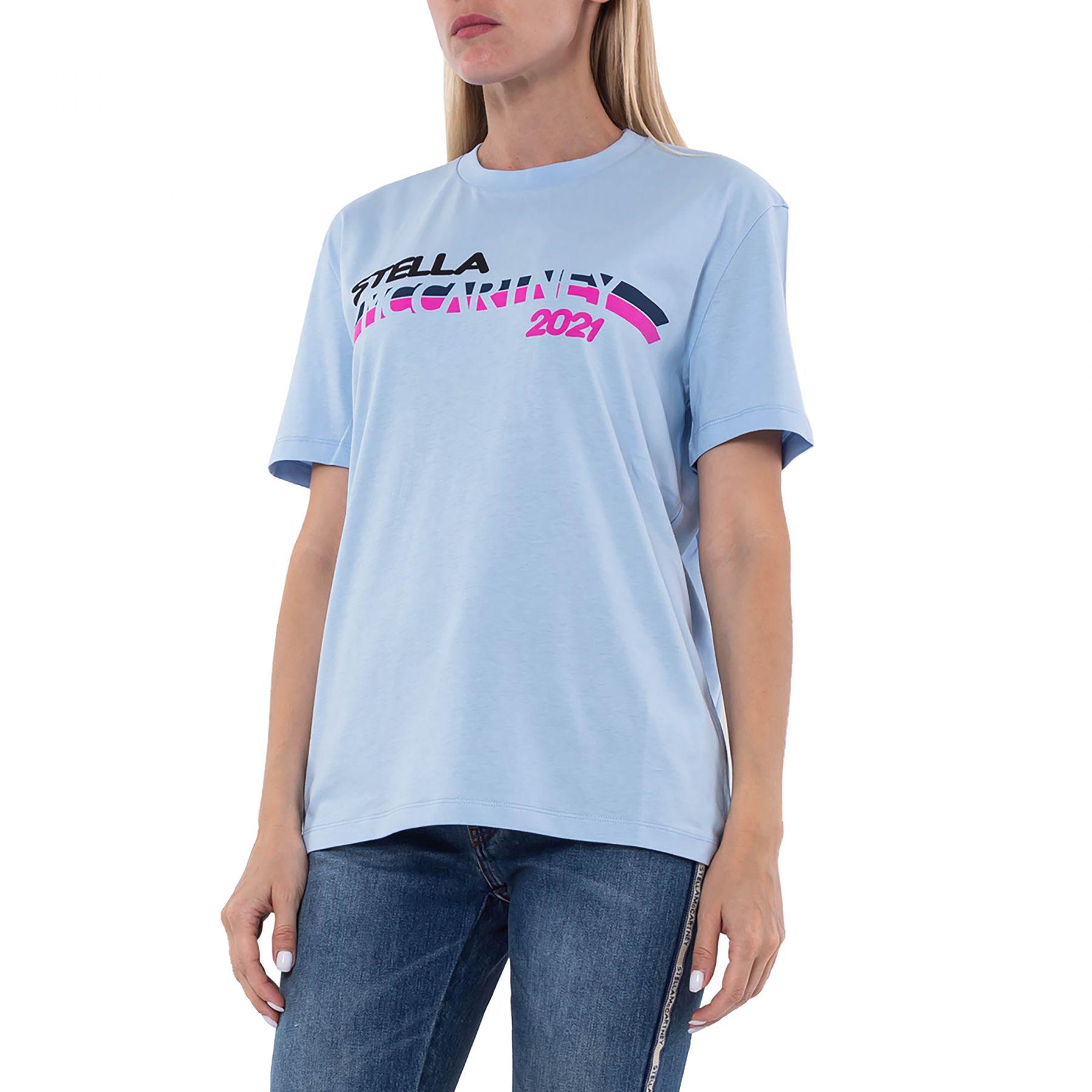 Футболка Stella McCartney голубая