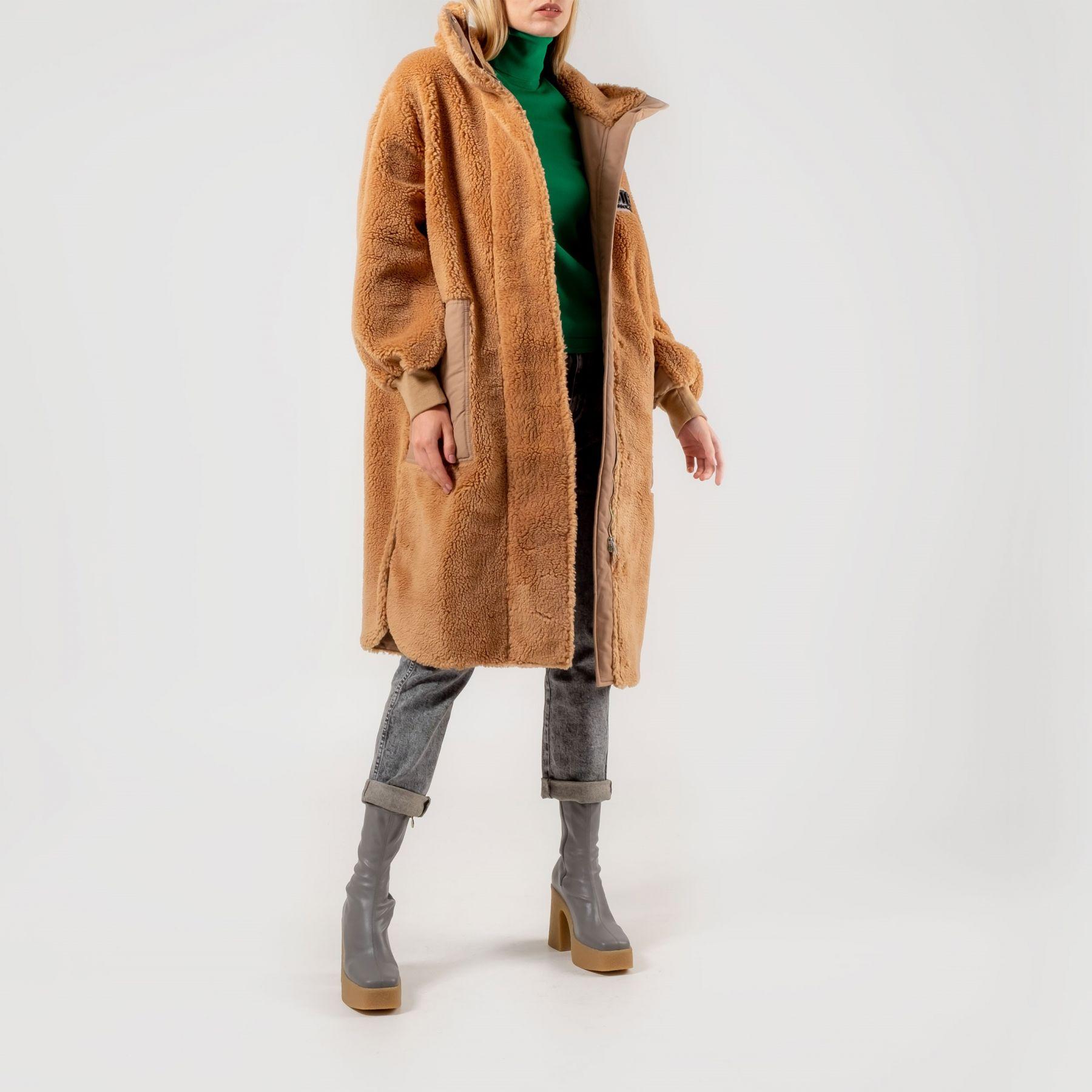 Шуба Stella McCartney коричневая
