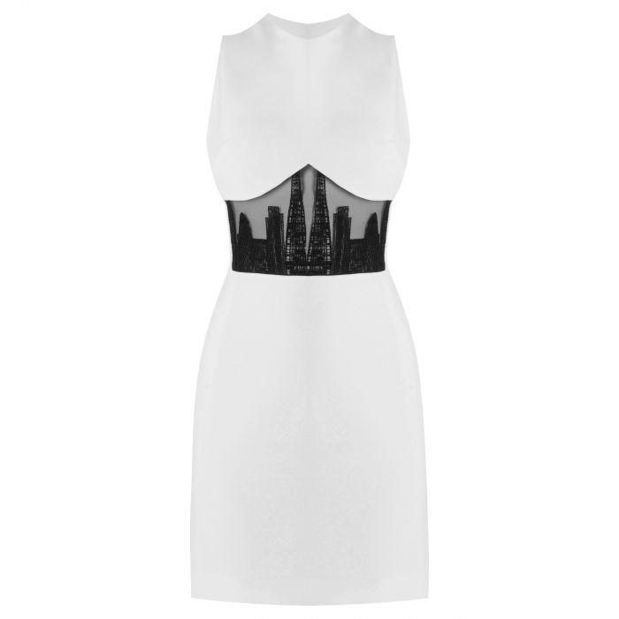 Платье David Koma London белое