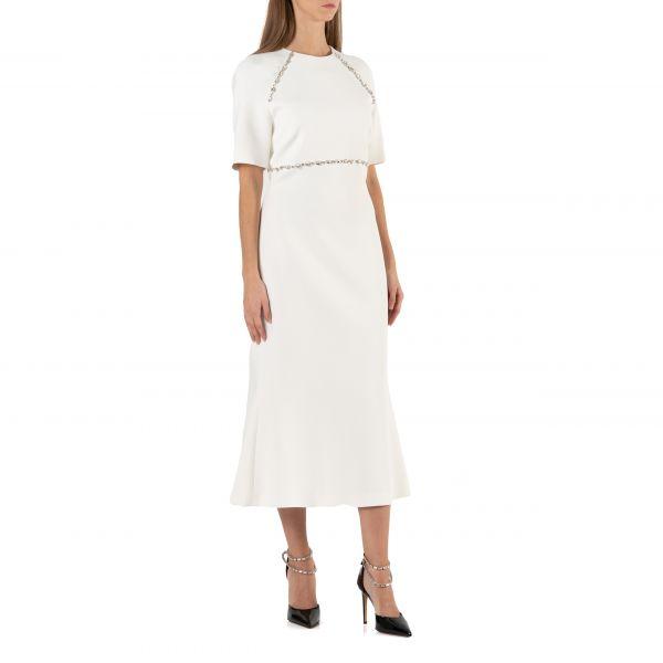 Платье длинное David Koma белое