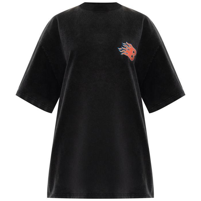 Футболка Balenciaga Flame черная