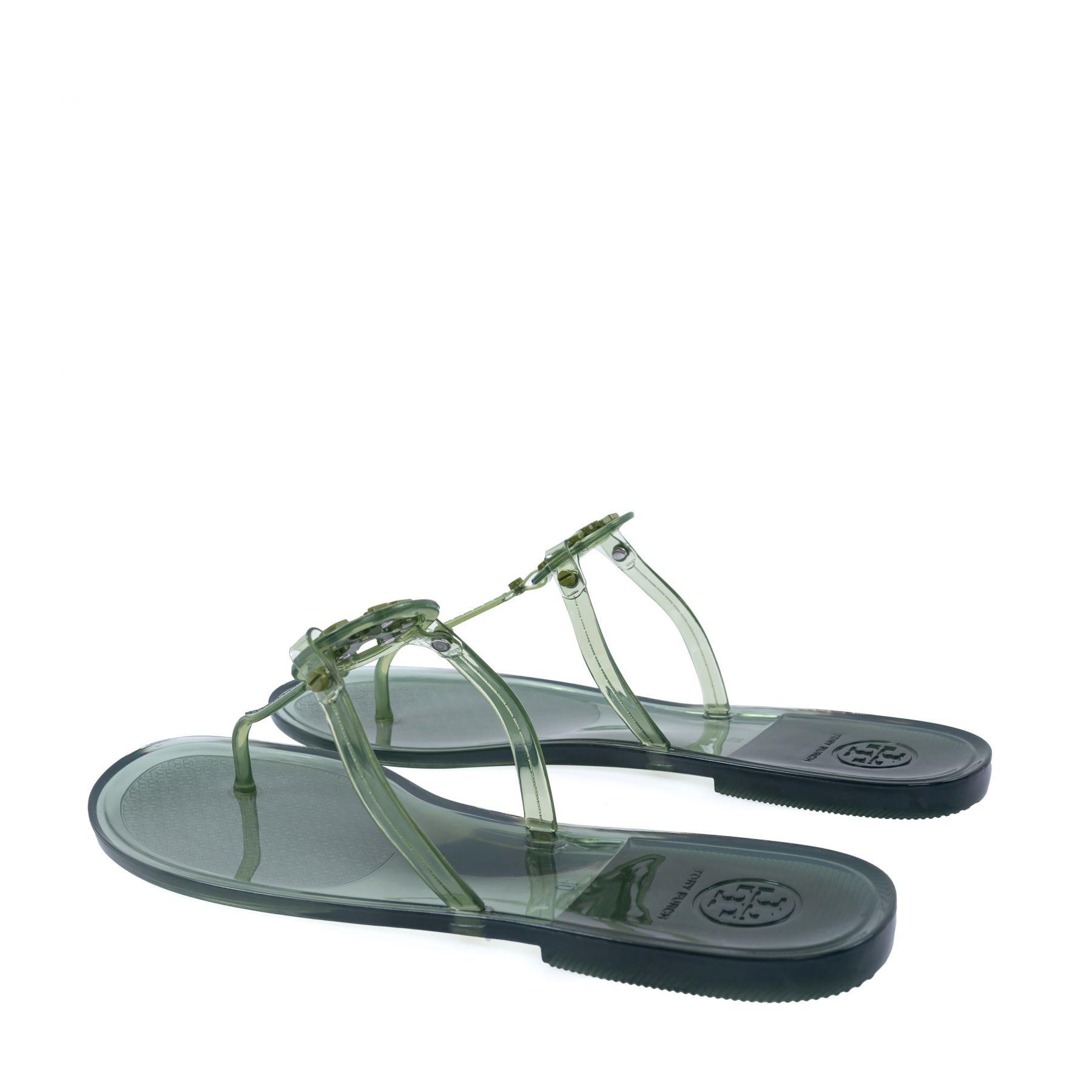 Шлепанцы Tory Burch Mini Miller зеленые