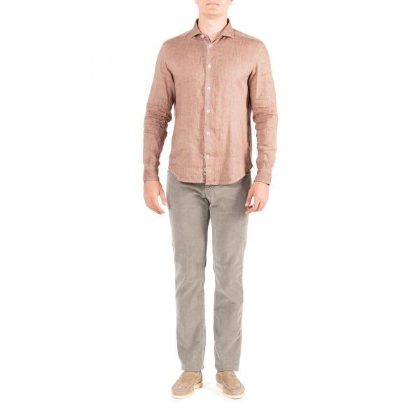 Рубашка длин.рук. Eleventy бежевая