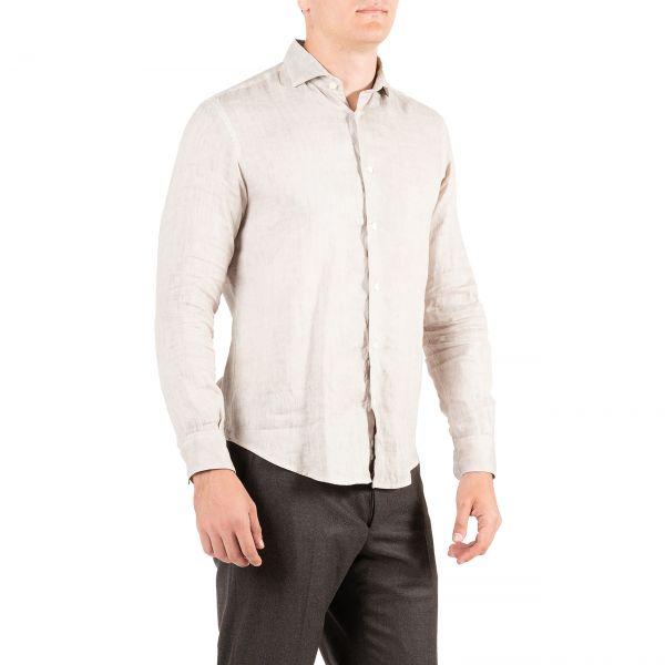 Рубашка с длинными рукавами Eleventy молочная