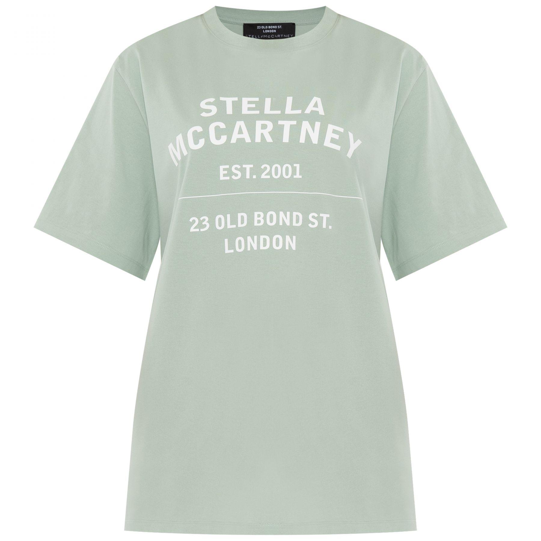 Футболка Stella McCartney 23 OBS ментоловая