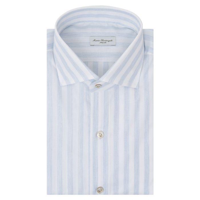 Рубашка с длинными рукавами Maria Santangelo бело-голубая