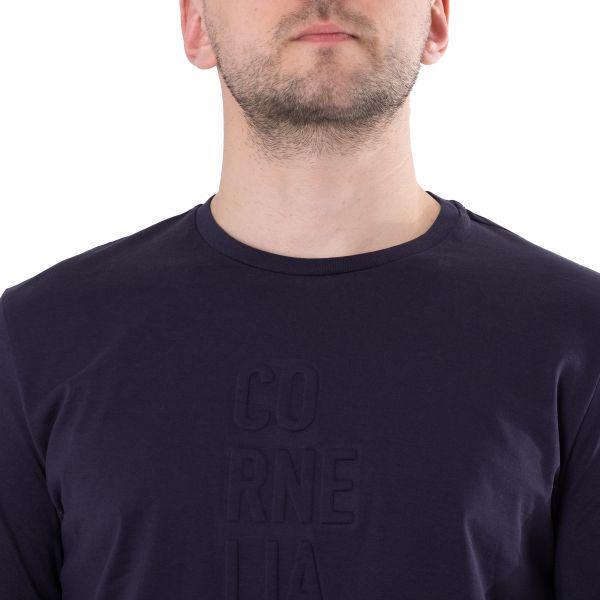Футболка Corneliani темно-синяя