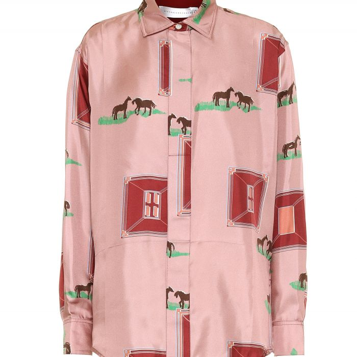 Блуза Victoria Beckham розовая