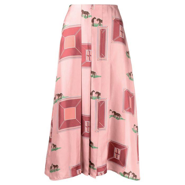 Юбка длинная Victoria Beckham розовая
