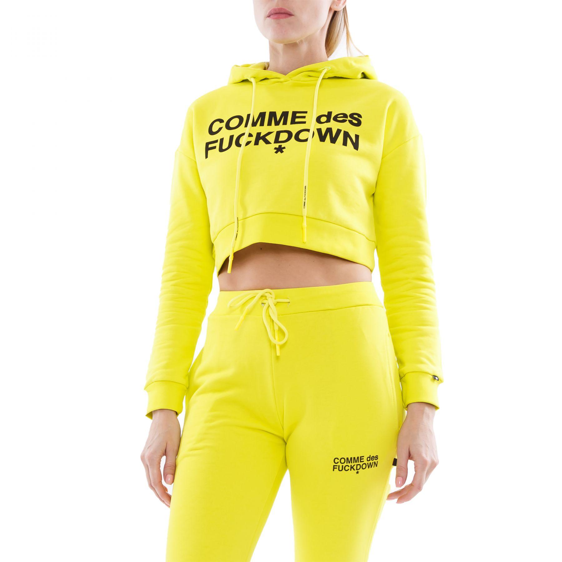Худи COMME des FUCKDOWN желтое