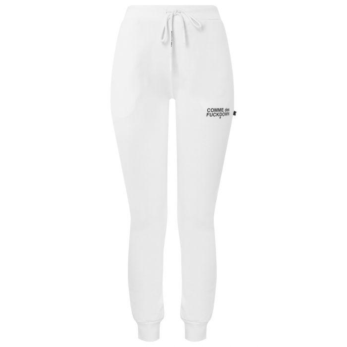 Спортивные брюки COMME des FUCKDOWN бело-черные