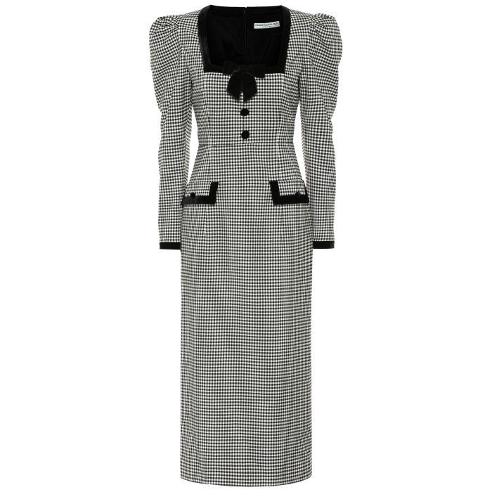 Платье Alessandra Rich черно-белое