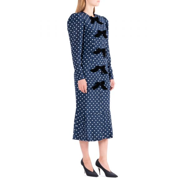 Платье Alessandra Rich сине-белое