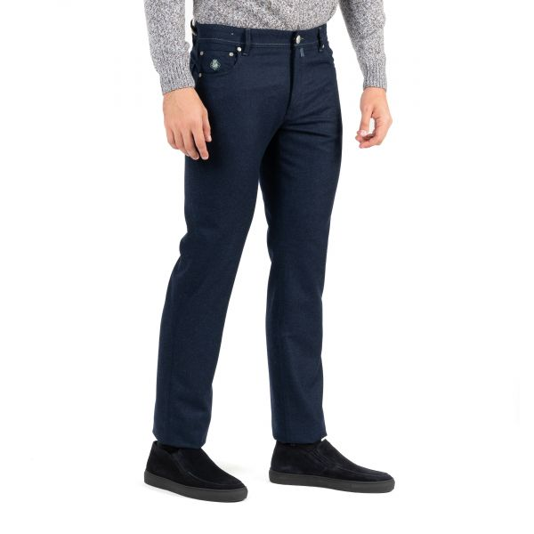 джинсы Luigi Borrelli темно-синие