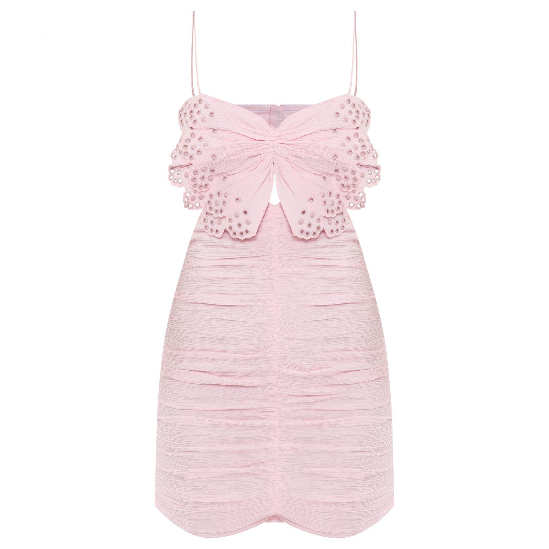 Платье Isabel Marant Likyna светло-розовое