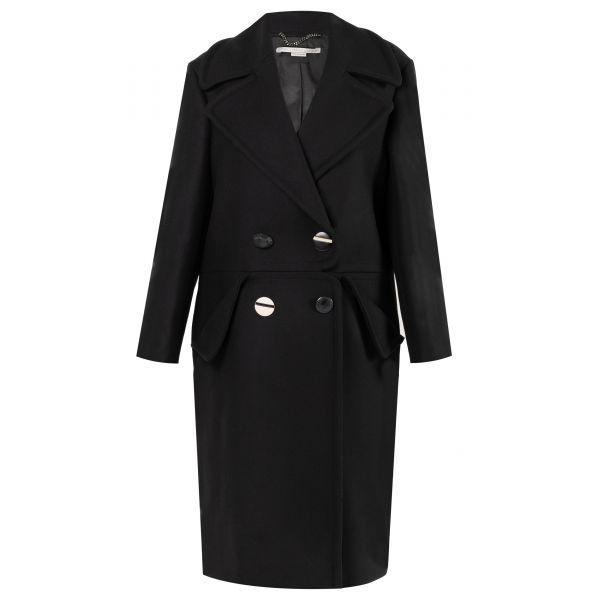 Пальто Stella McCartney черное