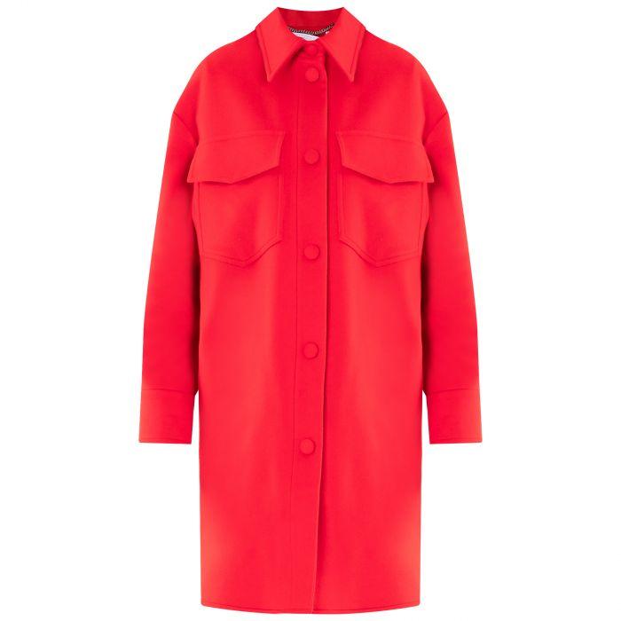 Пальто Stella McCartney Kerry красное