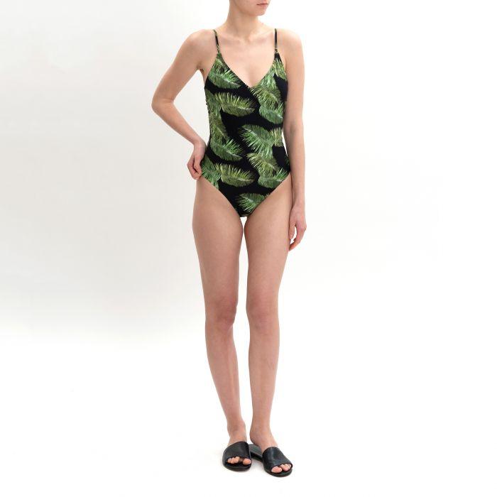 Купальник Melissa Odabash Bora Bora  черно-зеленый