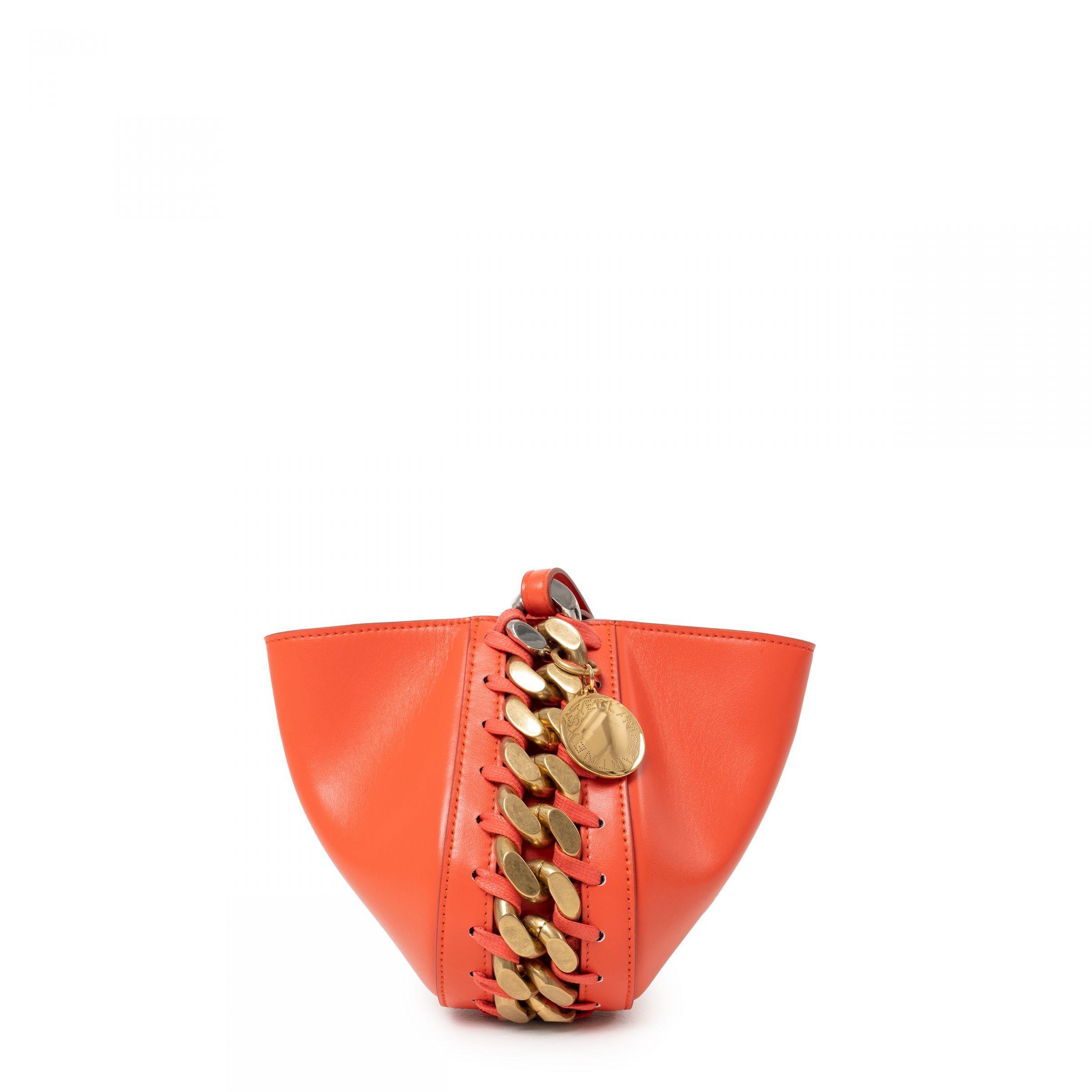Клатч Stella McCartney Frayme  оранжевый