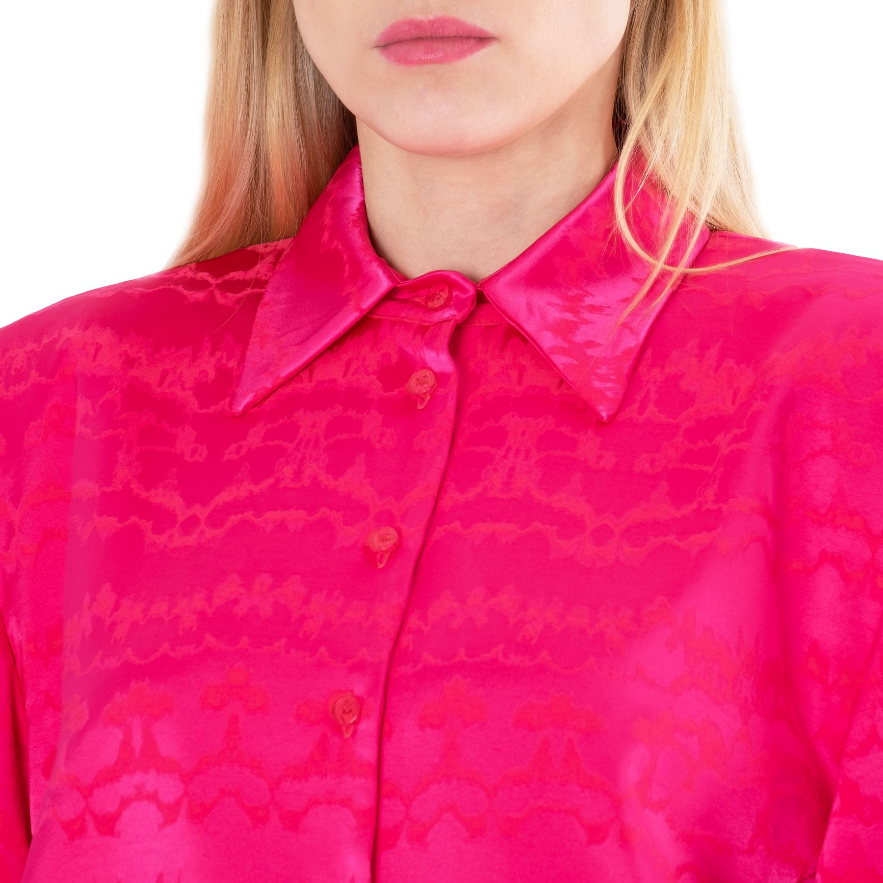 Рубашка с длинными рукавами The Attico фуксия