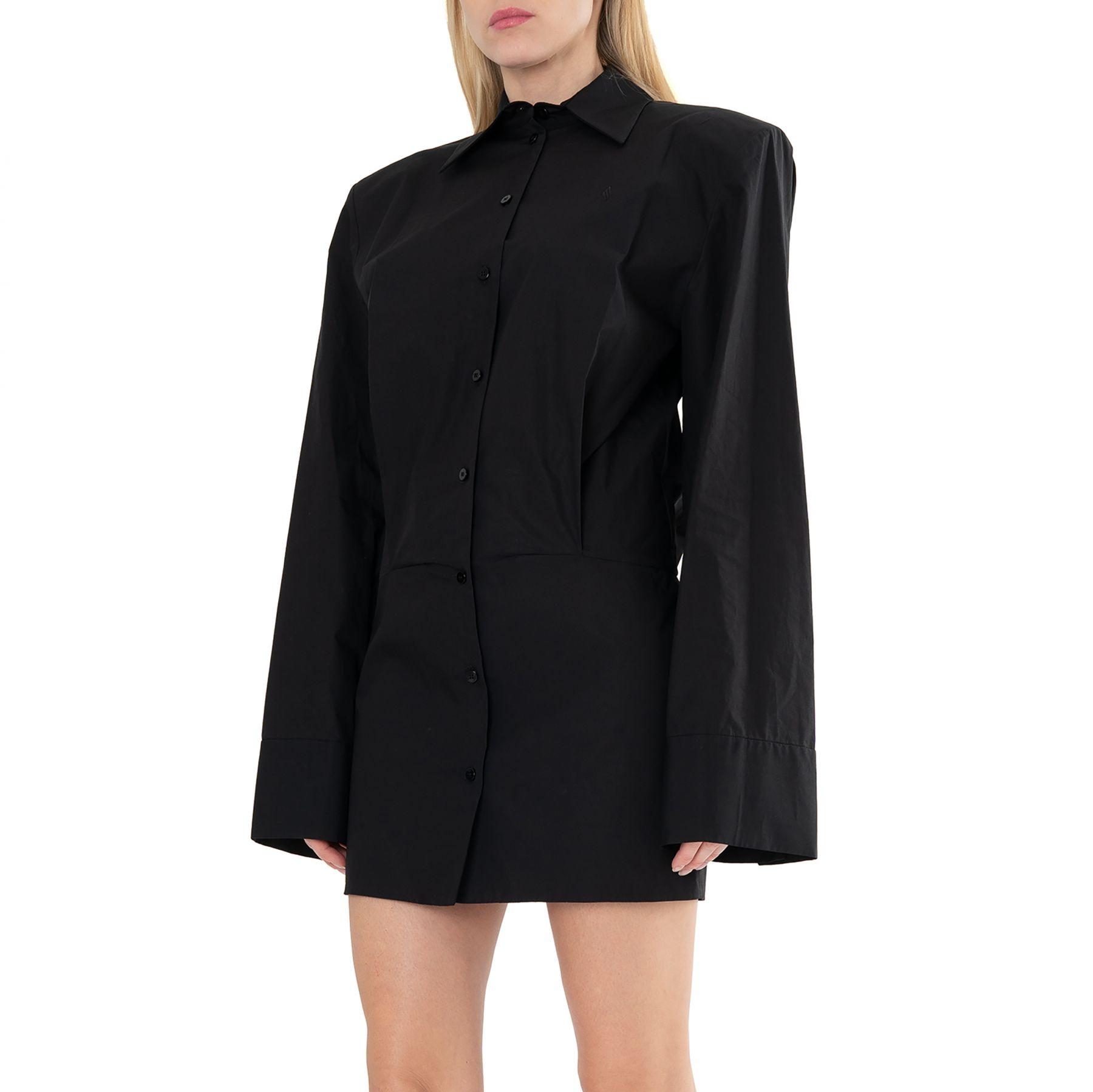 Платье The Attico MARGOT черное