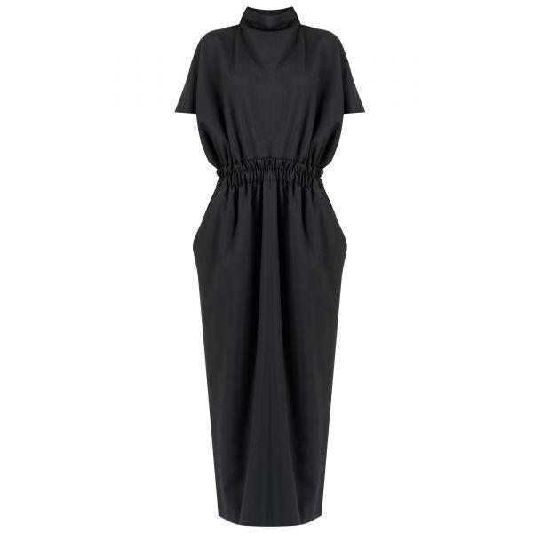 Платье длинное Dries Van Noten черное