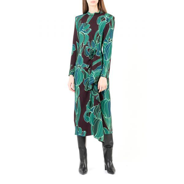 Платье длинное Dries Van Noten разноцветное