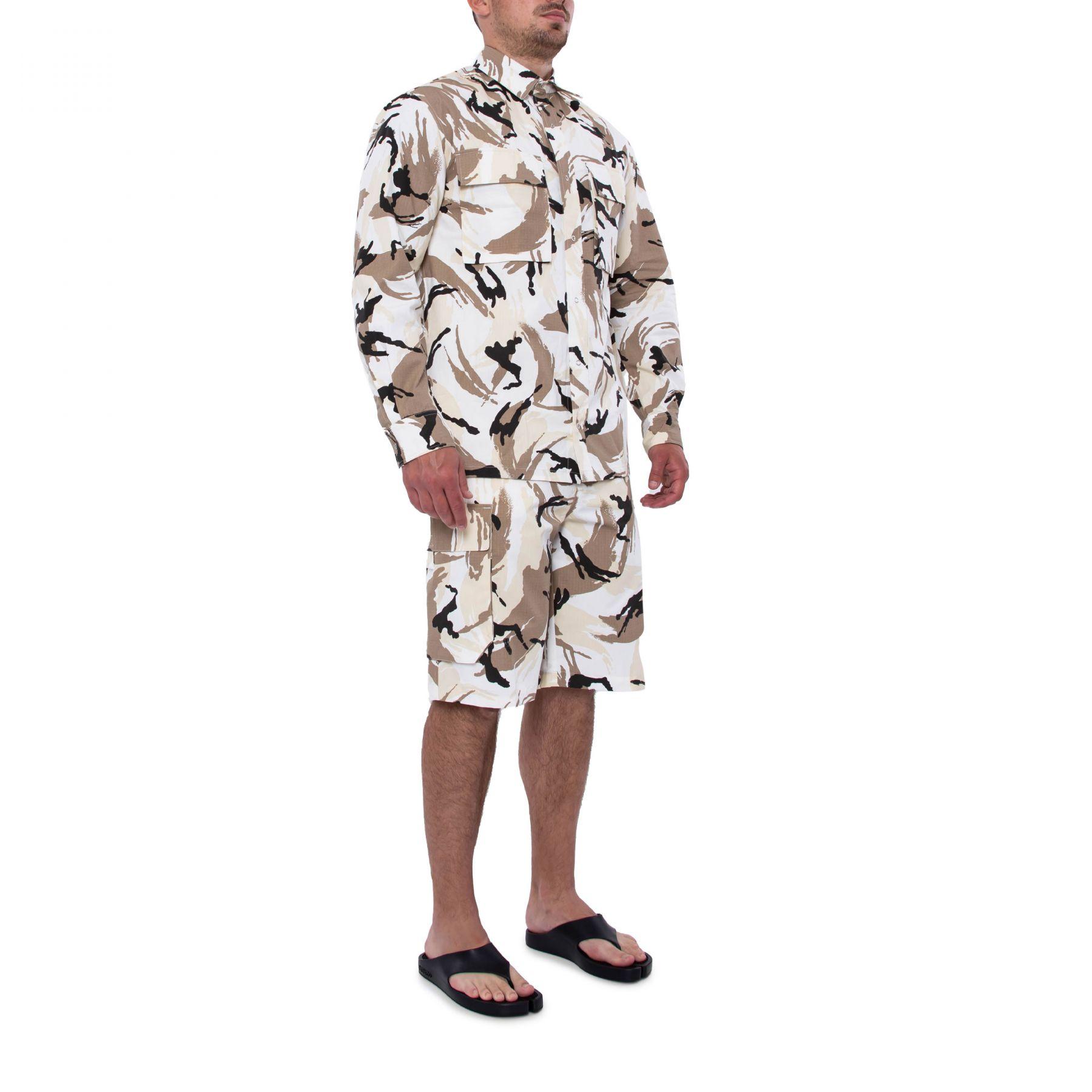 Рубашка с длинными рукавами Kenzo Tropic Camo бело-коричневая