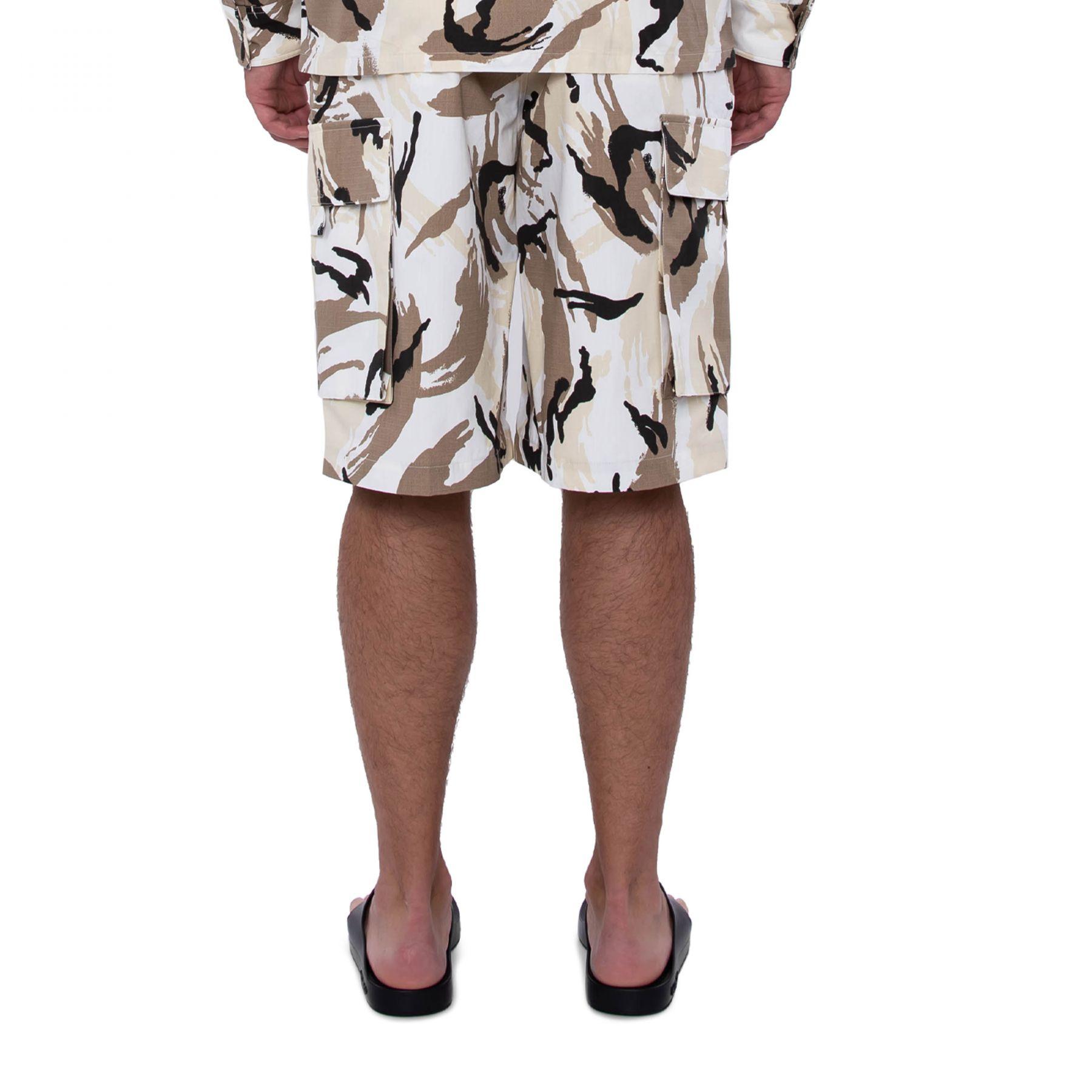 Бермуды Kenzo Tropic Camo бело-коричневые