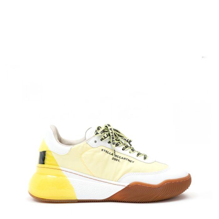 Сникеры Stella McCartney Loop Runner желто-белые