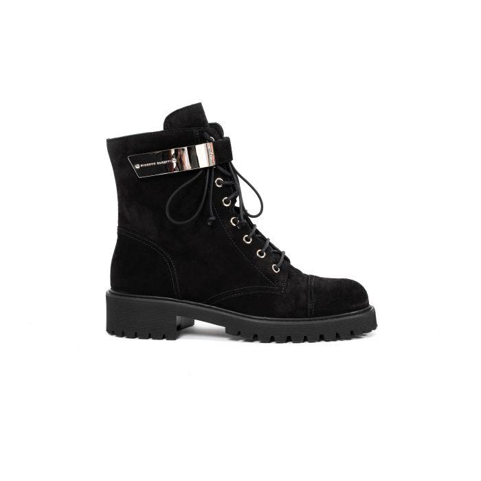 Ботинки флет Giuseppe Zanotti Alexa черные