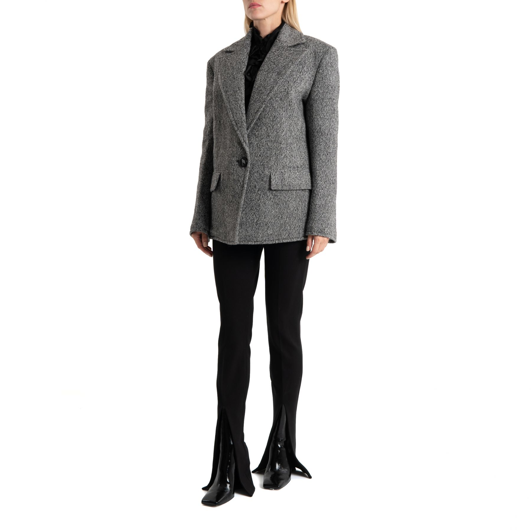 Пальто The Attico серое