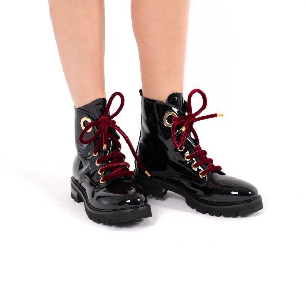Ботинки флет AGL черные