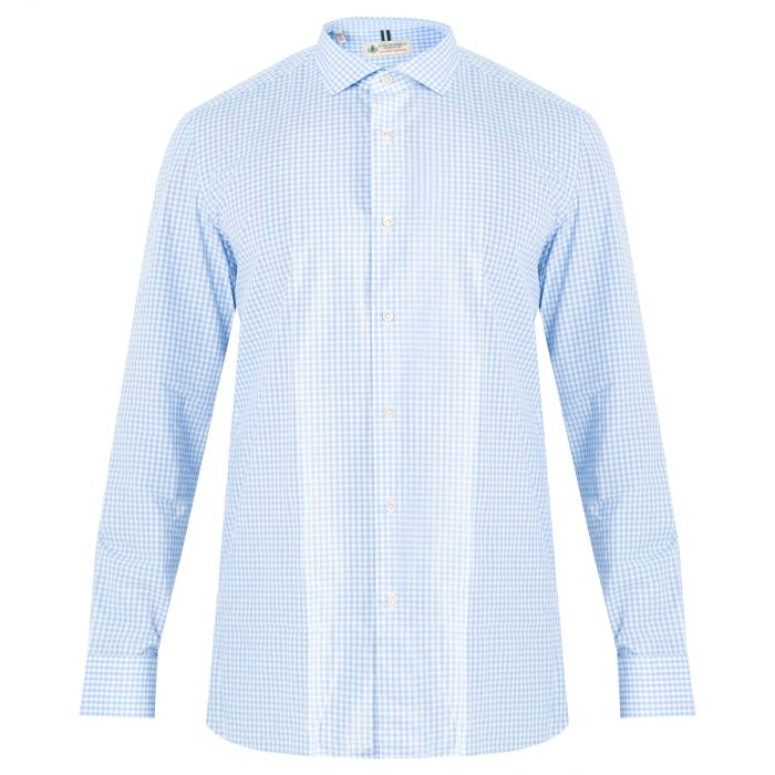 Рубашка длин.рук. Luigi Borrelli голубая