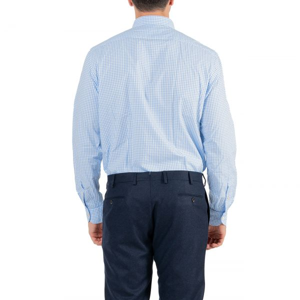 Рубашка с длинными рукавами Luigi Borrelli голубая